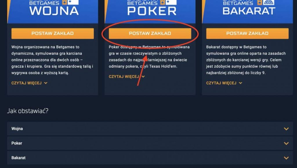 Legalne granie w pokera online. Krok 2