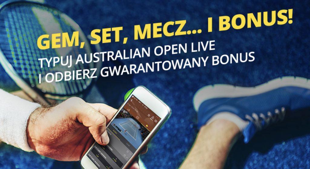 Fortuna z bonusem 20 PLN na tenis!