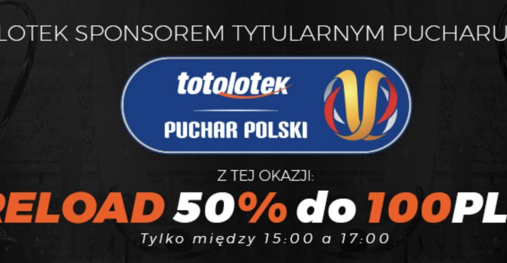Totolotek wspiera Puchar Polski. Graczom daje 100 PLN!