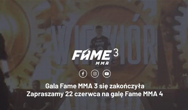 FAME MMA 4 walki. Gotowy na obstawianie?